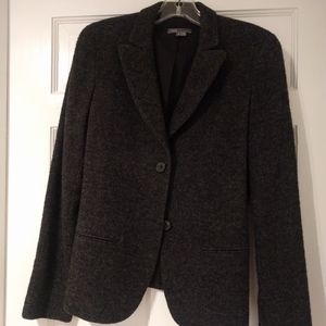 Vince Charcoal Wool Blazer with Cute Button Detail